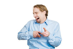 Laughing at you man Royalty Free Stock Photos