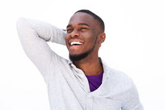 Laughing young african american guy Stock Image