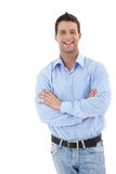 Laughing young businessman Royalty Free Stock Photography
