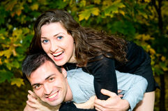 Laughing Young Couple Royalty Free Stock Image