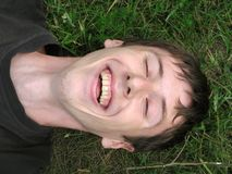Laughing_Young_Man Foto de archivo