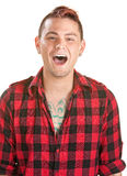 Laughing Young Man Stock Photo