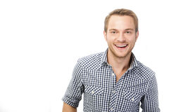 Laughing young man Royalty Free Stock Photo