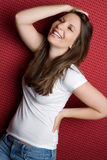Laughing Young Woman. Beautiful laughing young woman smiling Stock Photo