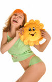 Laughing young woman Royalty Free Stock Photography