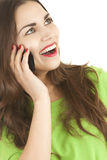 Laughing young woman on the phone Royalty Free Stock Photo
