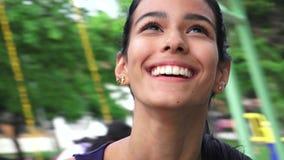 Laughing Youthful Colombian Teen Female. Beautiful young teen hispanic girl Royalty Free Stock Image