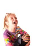 Laughingly girl. Laughingly young girl closeup Royalty Free Stock Images