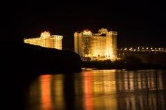 El casino de Harrah en el río Colorado imagen de archivo