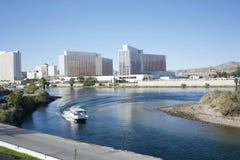 Laughlin Nevada veduto dal lato dell'Arizona Fotografia Stock