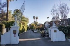 Laughlin parkerar, en privat utfärda utegångsförbud för gemenskap i Los Angeles royaltyfria bilder