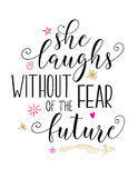 She Laughs without fear of the future Stock Photography