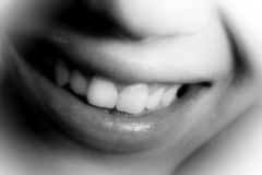 Laughter. A young and beautiful woman is laughing Royalty Free Stock Photo
