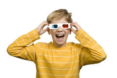 Laughter with 3-d effect Royalty Free Stock Photos