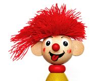 Laughter. Smiling red haired puppet - unauthorized homework Stock Images