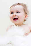 Laughter. Portrait of a baby boy Stock Photos