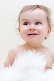 Laughter. Portrait of a baby boy Royalty Free Stock Image