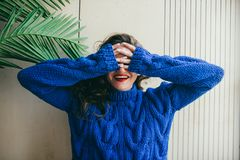 Laughter of the beautiful girl. Smile Royalty Free Stock Images