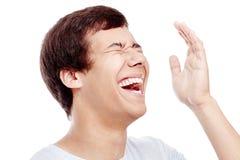 Laughter closeup Stock Photography