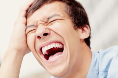 Laughter closeup Stock Image