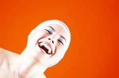 Laughter is good for the soul.  Royalty Free Stock Image
