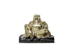 laughter Monge de riso de bronze tradicional buddha fotografia de stock royalty free