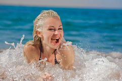 Laughter in the sea Royalty Free Stock Photography