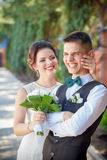 Laughter at the wedding Royalty Free Stock Images