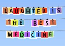 Laughteren är den bästa medicinen royaltyfri illustrationer