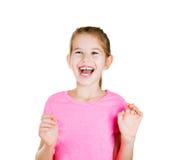 Laughting little girl stock photo