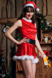 Lauging Santa Claus woman Royalty Free Stock Photo