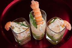 Laugoustine et cocktail de concombre Image stock