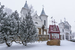 Laukuva church detail Royalty Free Stock Image