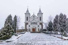 Laukuva church front Stock Photos