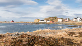 Laukvik auf Lofoten-Inseln, Norwegen Lizenzfreies Stockbild