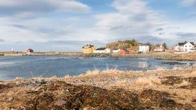 Laukvik em ilhas de Lofoten, Noruega Imagem de Stock Royalty Free