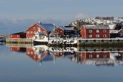 Laukvik port Stock Images