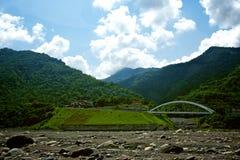 Laulong город River Valley, Kaohsiung, Тайвань Стоковое фото RF