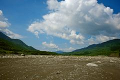 Laulong river valley , Kaohsiung City, Taiwan Royalty Free Stock Images