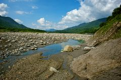 Laulong River Valley, Kaohsiung stad, Taiwan Royaltyfria Foton