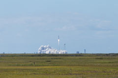 Launch of Antares rocket from Wallops Island Royalty Free Stock Photography