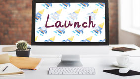 Launch Begin Introduce Startup Campaign Kick Off Concept Royalty Free Stock Images