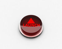 LAUNCH button Royalty Free Stock Photos