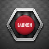 Launch button. Vector background. Eps10 royalty free illustration