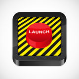 Launch button icon Stock Photo