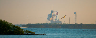 Launch of Endeavour STS134. Cape Canaveral, Brevard County, Florida, USA Royalty Free Stock Photos