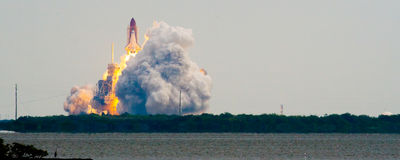 Launch of Endeavour STS134. Cape Canaveral, Brevard County, Florida, USA Royalty Free Stock Images