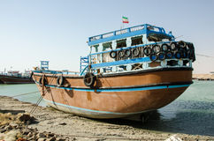 Launch. An Iranian launch anchored in Persian gulf Royalty Free Stock Photography