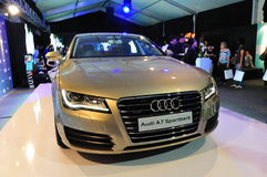 Launch of new Audi A7, on display, at Audi Fashion Festival 2011 Royalty Free Stock Photography