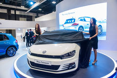 Launch of new Volkswagen Scirocco at the Singapore Motorshow 2015 Royalty Free Stock Photo